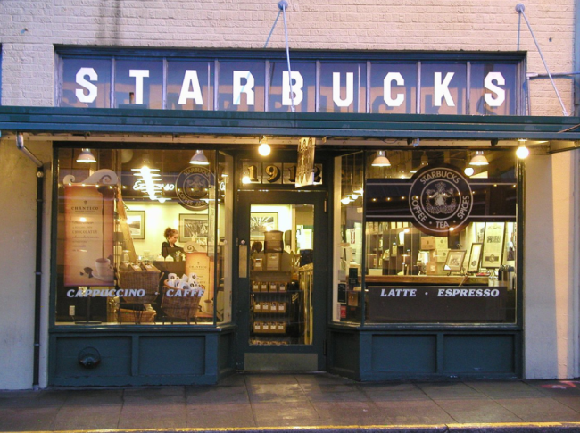First Starbucks Storefront